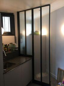 la miroiterie yerroise - essonne -91 verriere interieure design - separation cuisine 6