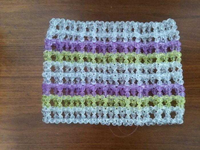ビーズバッグ 本体が編みあがりました