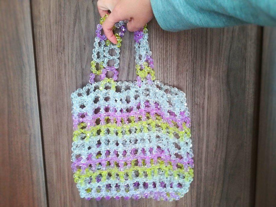 トレンドのビーズバッグを自作してみました