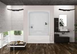 Tub Showers Mirolin - 48 inch tub shower combo