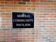 Mirolo Pavilion Plaque outside