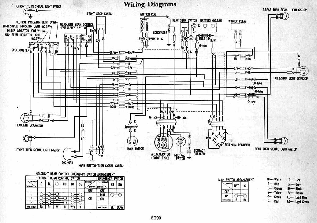 schema electrique honda daxst90?resize=665%2C469 1977 honda ct70 wiring diagram wiring diagram 1974 cb360 wiring diagram at mifinder.co