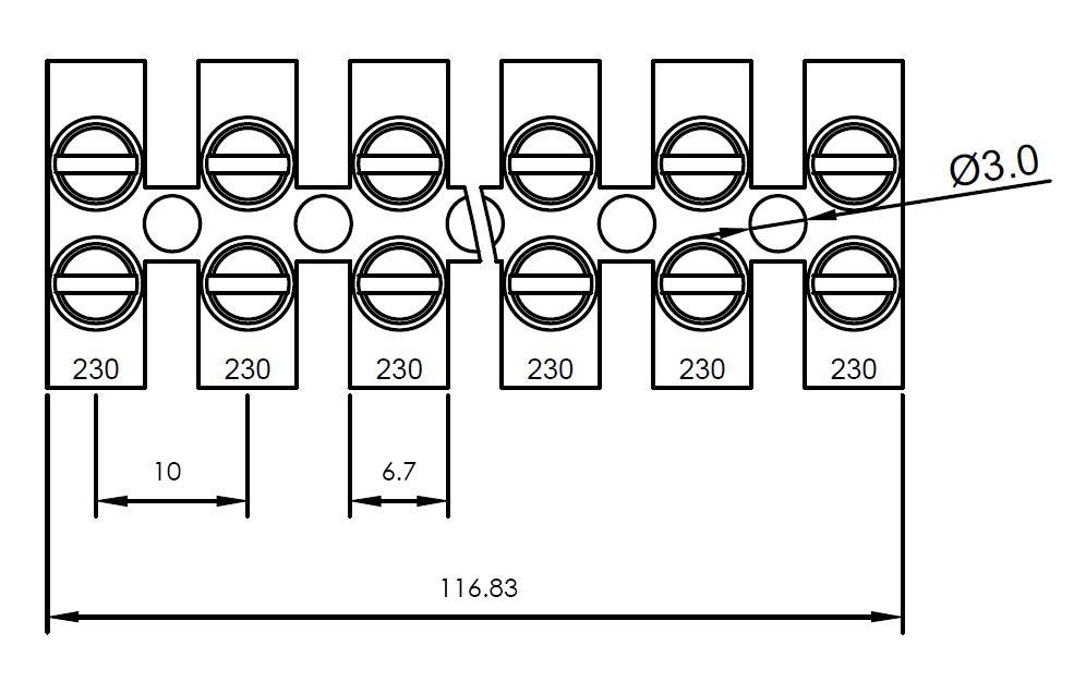GT1450B-10   Terminal Strips – 10mm Pitch