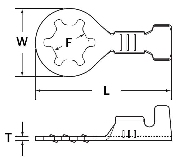 RL050-03B2 | Open Barrel Ring Terminal