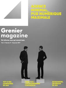 Agence minimal, pub numérique maximale   Grenier Mag