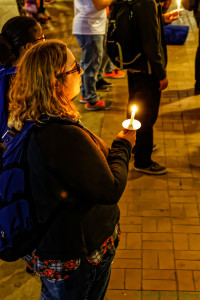 Candlelight Vigil held following the shootings at Umpqua Community College. Flickr via Calvin Hodgson.