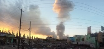 An airstrike hits Sanaa, the capital of Yemen.