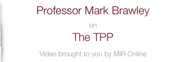 Interview with Professor Mark Brawley: Understanding the Trans-Pacific Partnership