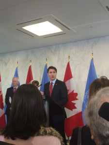 PM Justin Trudeau at the United Nations Secretariat Building