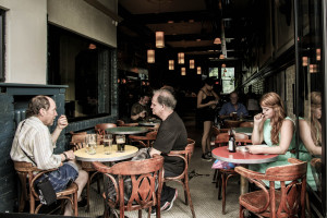 Terrace of a café in Montréal. https://flic.kr/p/gxKH9Y
