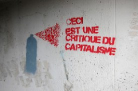 "Anti--Capitalist Graffiti, ""This is a critique of capitalism"" https://flic.kr/p/eQGfiN"