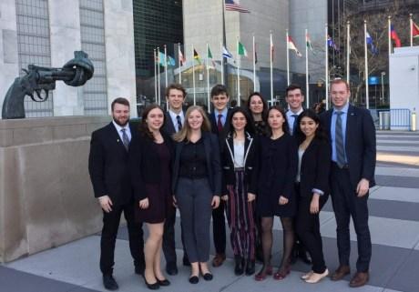 McGill students representing IRSAM at CSocD55.