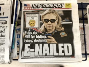 Hillary Clinton, 5/2016, New York Post Cover email (Image by Mike Mozart, via Flickr)