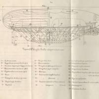 Общие чертежи старинных дирижаблей