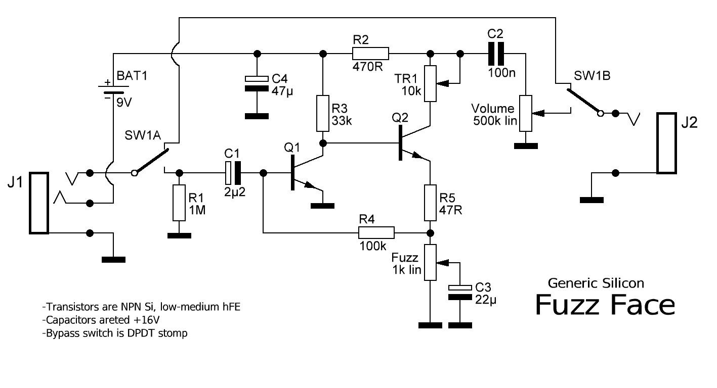 fuzz face wiring diagram jvc radio bluetooth verbinden npn schematic get free image about