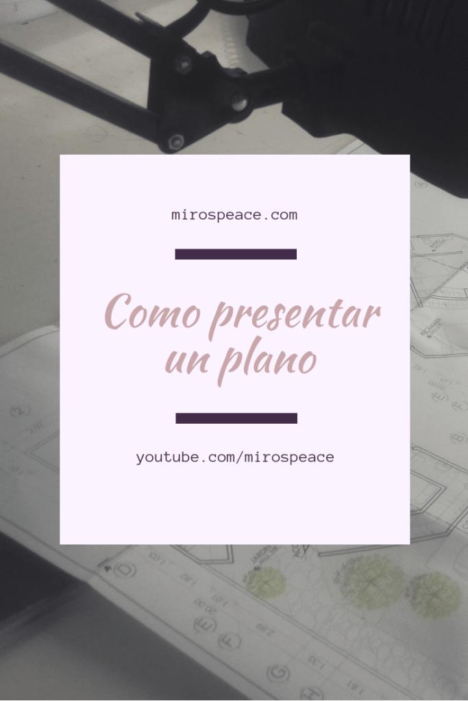 como presentar un plano Pinterest