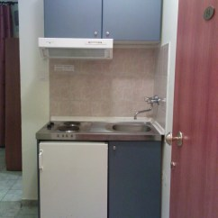 Hotel With Kitchen In Room Cabinet Cleaner Ifigeneia B Paralia Mirotis Travel