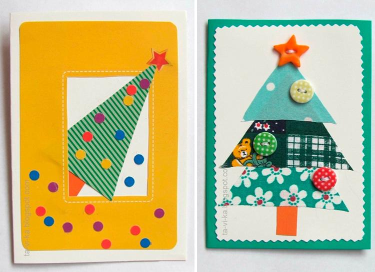 ایده های کارت پستال های سال نو آن را خودتان انجام دهید