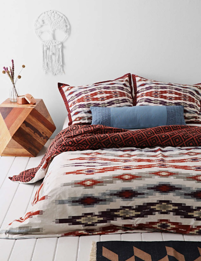 Top 80'S Aesthetic Bedrooms - New-80s-Southwestern-style-bedding-from-Urban-Outfitters  Collection_144588.jpg