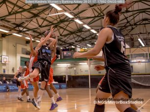 Solent Kestrels WNBL Division 1 - 28 January, 2017 - St Marys Leisure Cent. : Andrea Kurkowski during match against Barking Abbey (Photo by NGS/MirrorBoxStudios)