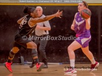 WNBL Division 1 - 18 February, 2017 - St Marys Leisure Cent. : E Maidman (8) leading the attack during match between Solent Kestrels Women and Charnwood CR (Photo by NGS/MirrorBoxStudios)
