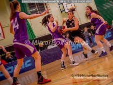 WNBL Division 1 - 18 February, 2017 - St Marys Leisure Cent. : Kalina Axentieva (6) quick feet during match between Solent Kestrels Women and Charnwood CR (Photo by NGS/MirrorBoxStudios)
