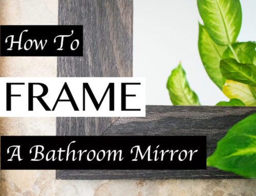 How To Paint Your Mirror Frame Kit