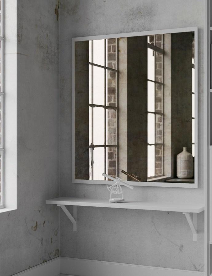 Antiqued Mirror in Converted Loft