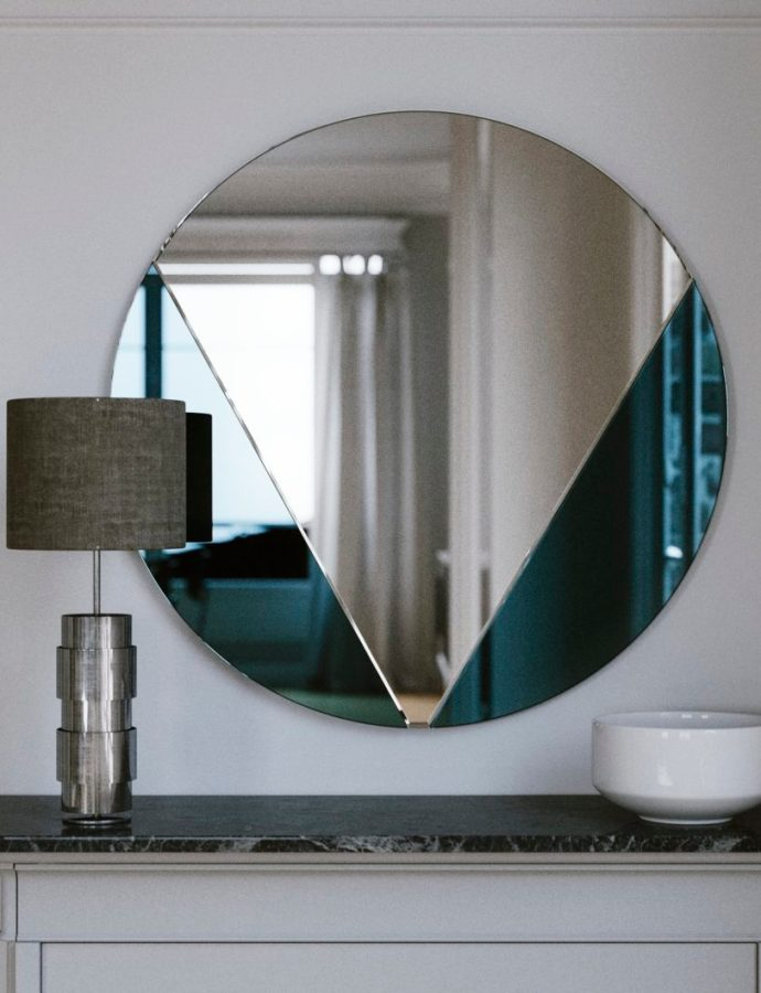 The Perfect Art Deco Blue Mirror