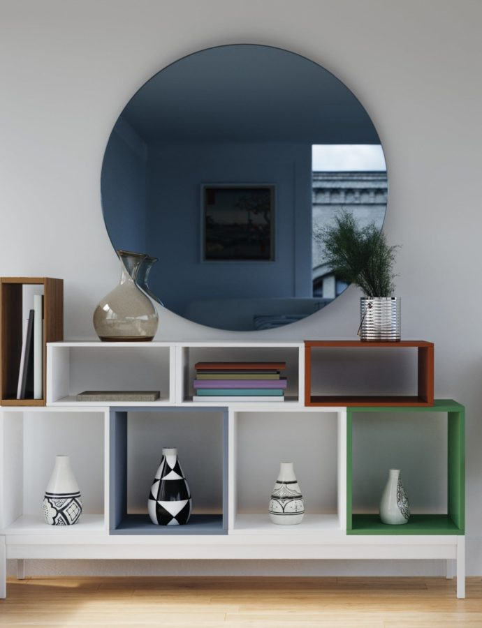 Mid Century Modern Blue Mirrors [June 2020]