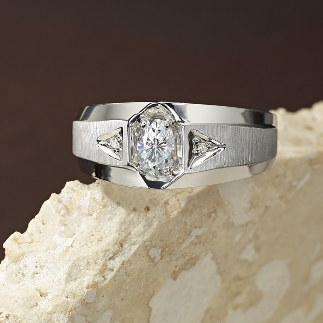 Manly Moissanite: Five Styles for Dad