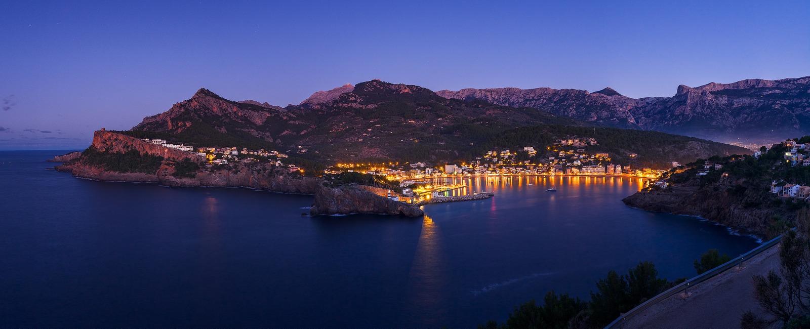 Panorama von Port de Soller auf Mallorca
