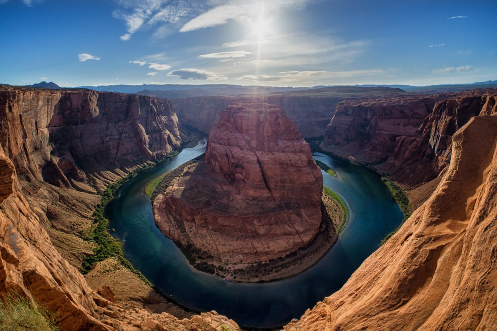 Die Horseshoe Bend in Page, Arizona in den USA