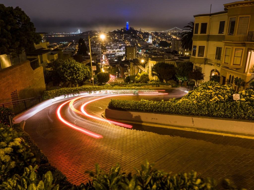 Die Lombard Street in San Francisco