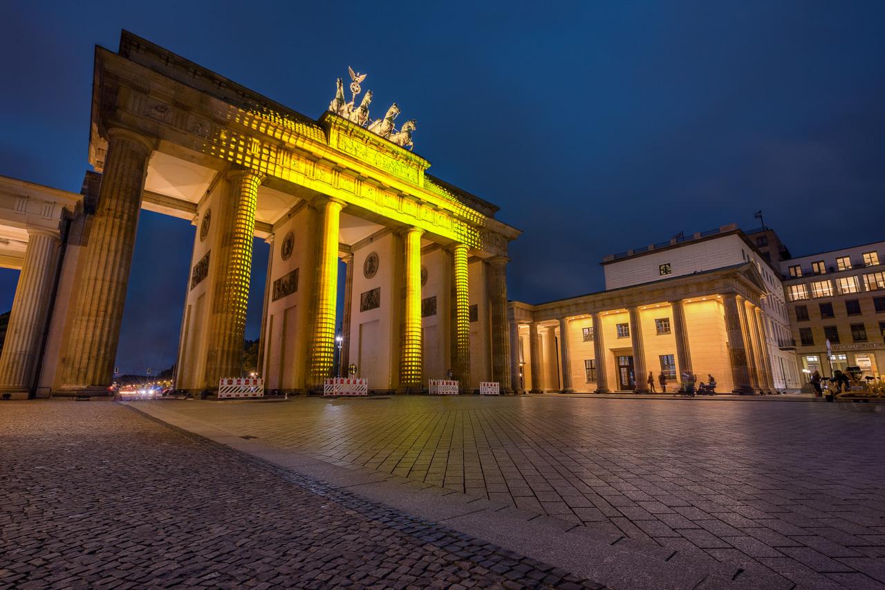 Das Brandenburger Tor zum Festival of Lights.