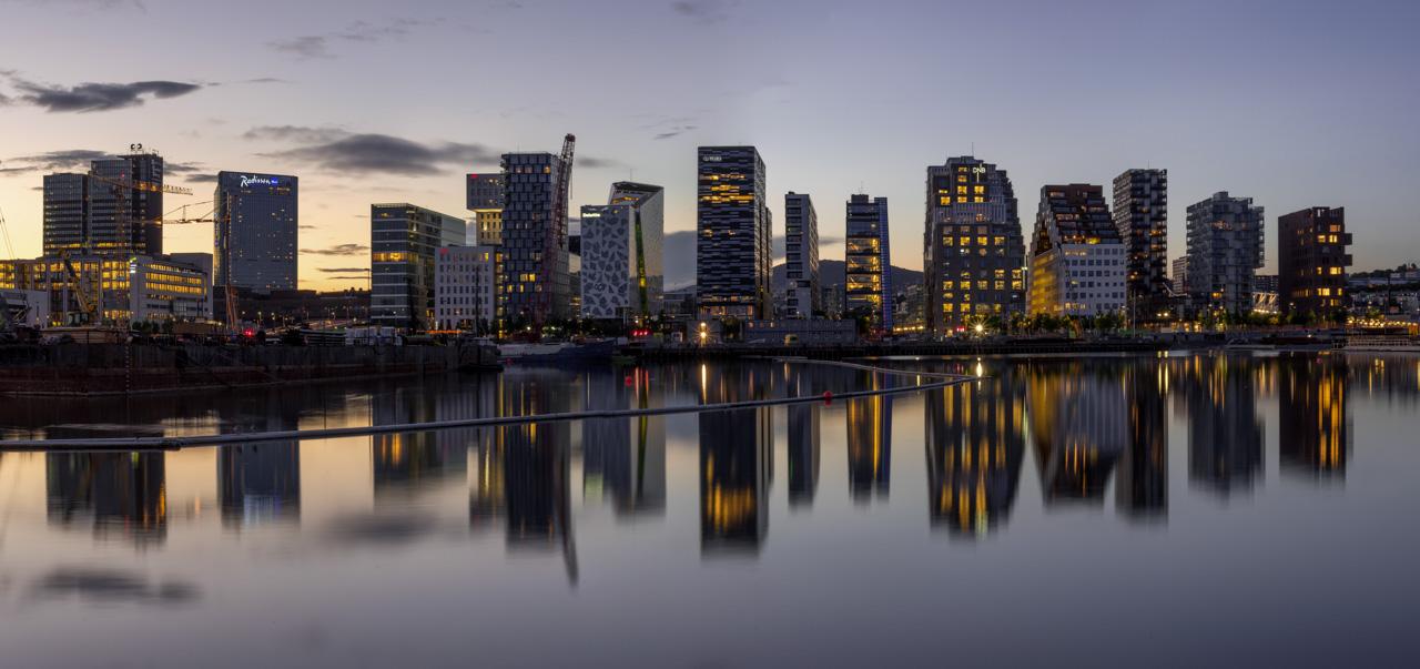 Skyline in Oslo, Norwegen