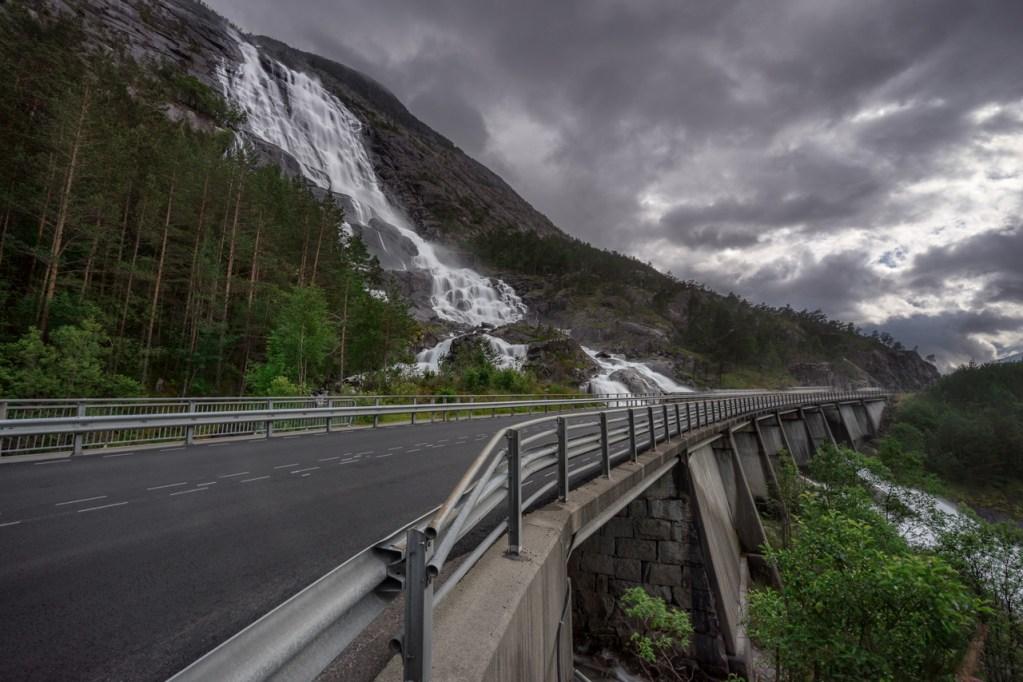 Langfoss in Norwegen