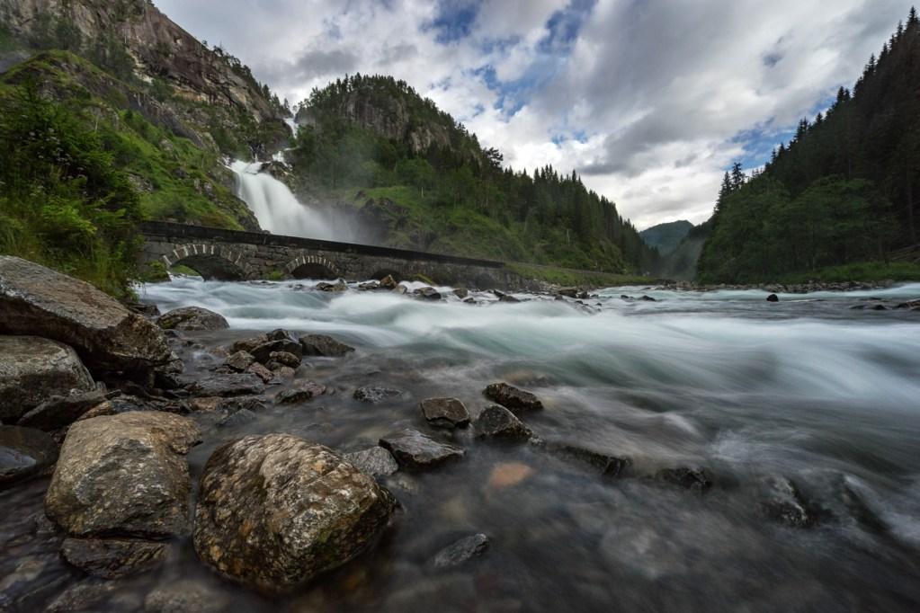 Låtefossen Wasserfall in Norwegen