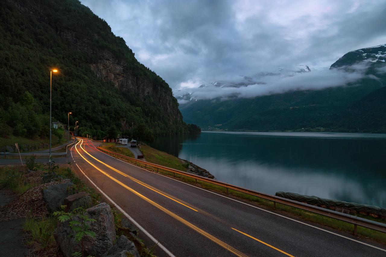 Blick ins Sorfjord in Norwegen