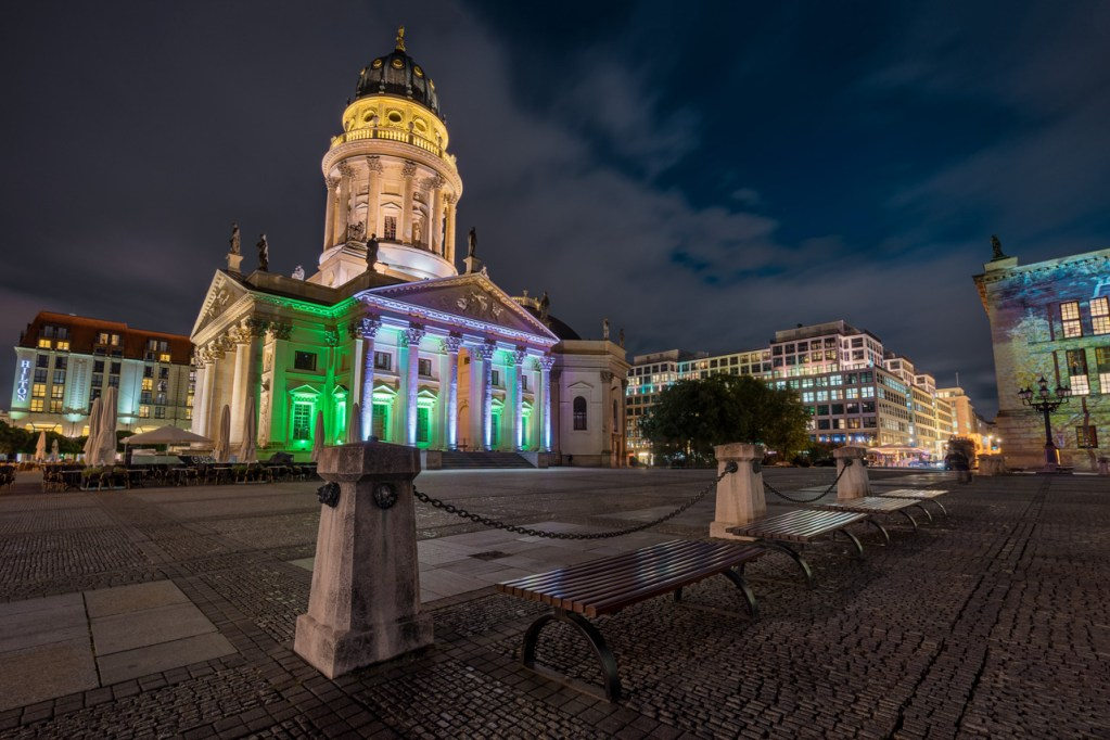 Gendarmenmarkt in Berlin zum Festival of Lights
