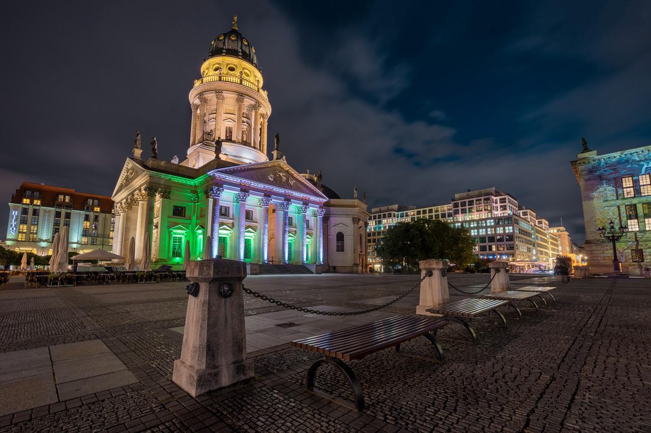 Gendarmenmarkt in Berlin zum Festival of Lights