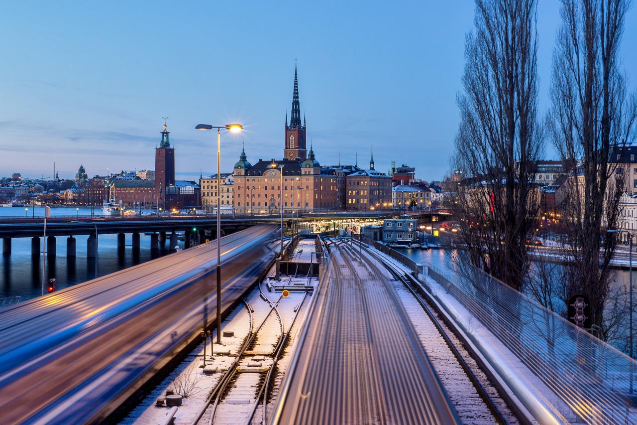 Bahn in Stockholm