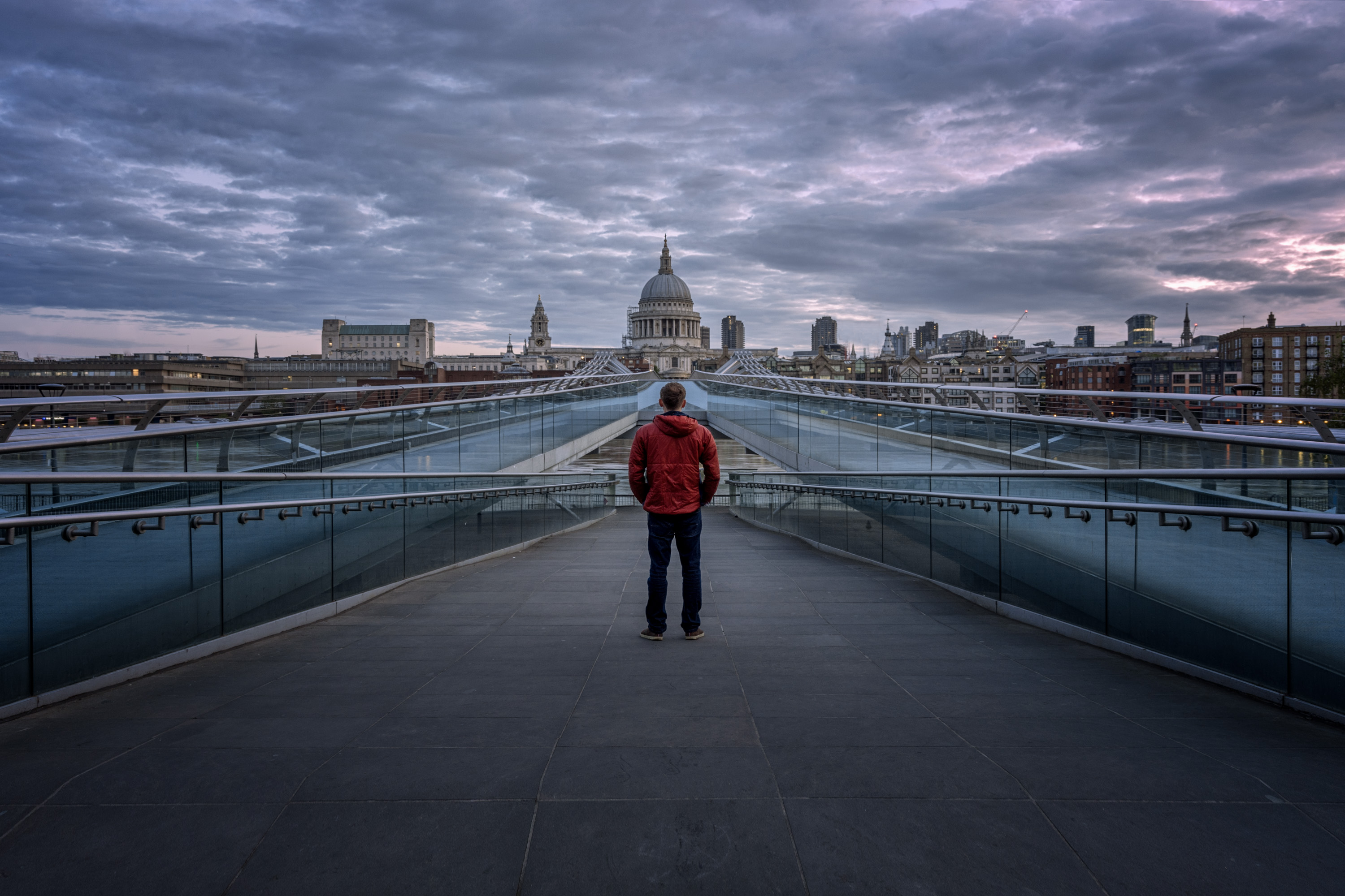 Millennium Bridge Sunrise in London