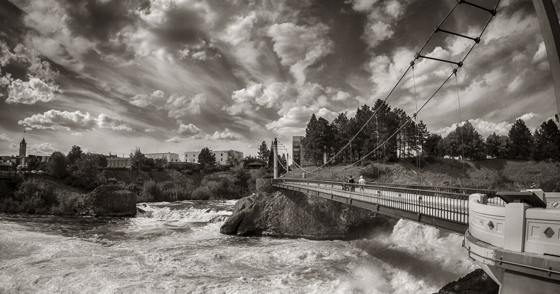 The Spokane River in Black & White