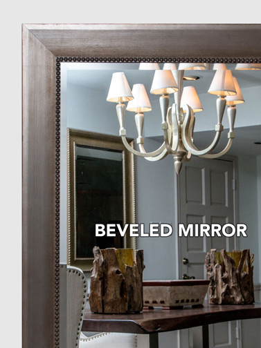 MAL0590  Silver Gold Framed Mirror  Large Mirror  Bathroom Mirror  Custom Sized
