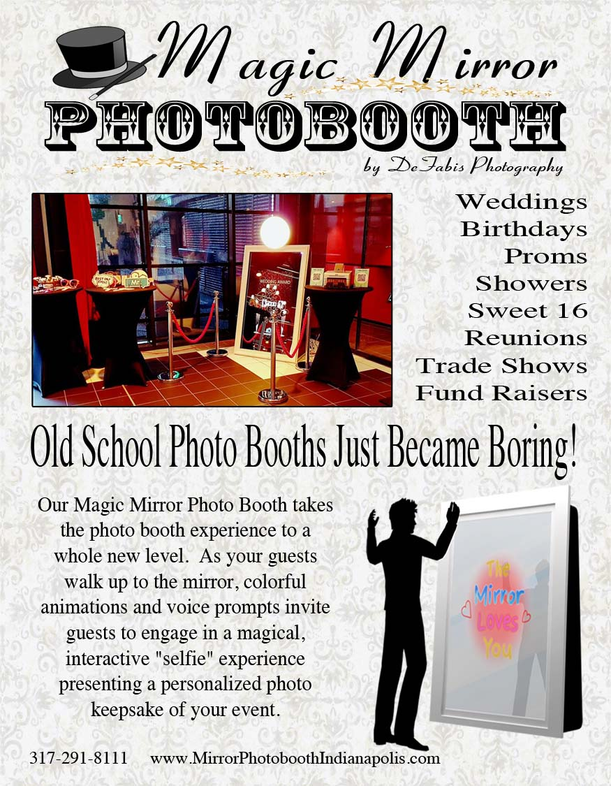Magic Mirror Bridal Show Handouts Mirror Photo Booth Of Indianapolis