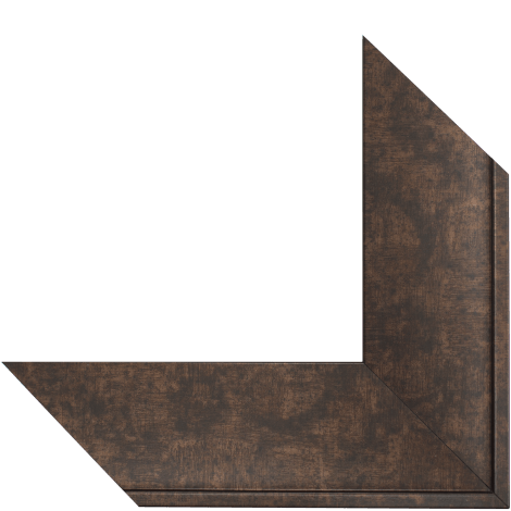 rubbed bronze mirror frame