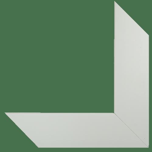 white cotton mirror frame