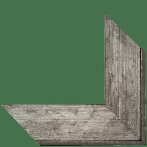 brushed silver mirror frame
