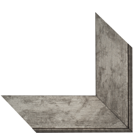 5013 Brushed Silver Mirror Frame